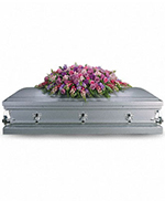 Lavender Tribute Casket Spray